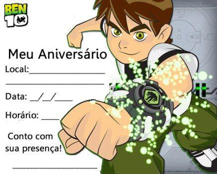 Convites De Festa De Aniversário Infantil Para Imprimir 3