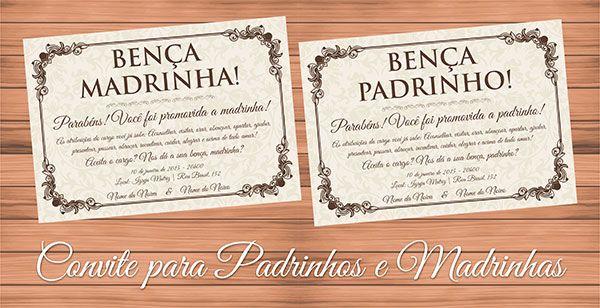 Modelo Convite Padrinho Madrinha