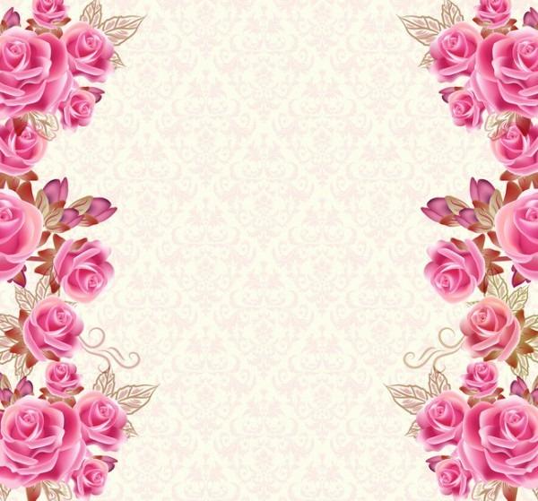 Floral Flor Design Frame Background Decoração Padrão Ornamento