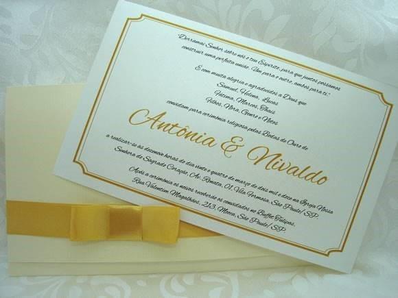 Modelos De Convites Bodas De Ouro