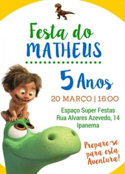 Convite Festa O Bom Dinossauro