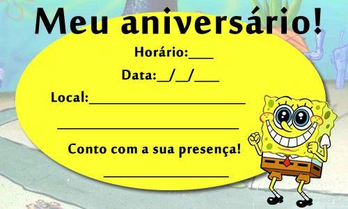 Convite Bob Esponja 2 (1)