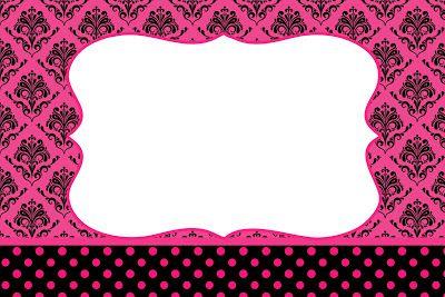 Preto E Pink Vintage