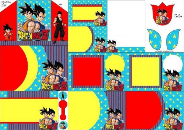 Dragon Ball Z  Free Printable Invitations