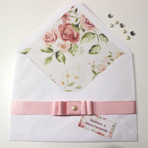 Diy Wedding Invitation Printed Envelope