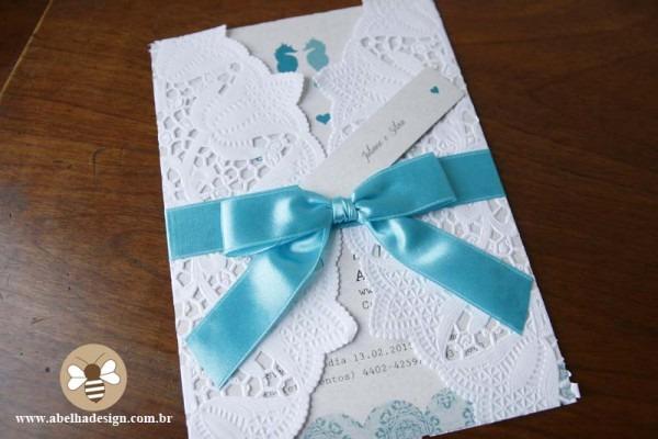Convite Azul Turquesa