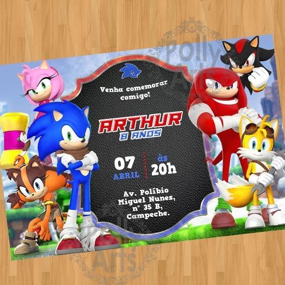 Arte Convite Digital Virtual Sonic