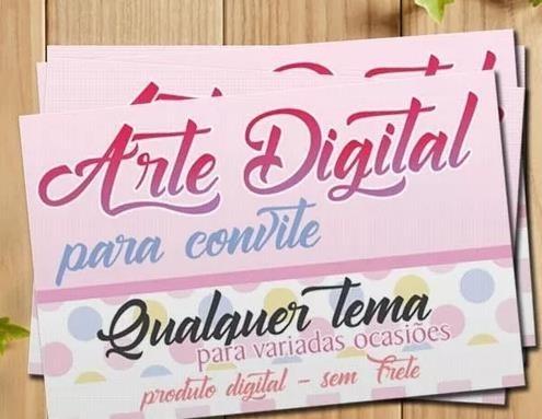 Arte Digital Para Convite, Cartão De Visita, Banner