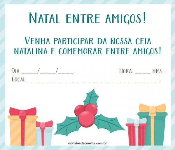35 Convites De Natal Para Ceia E Confraternização – Modelos De Convite