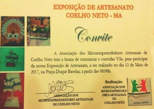 Blog Do JoÃo OsÓrio  Convite  ExposiÇÃo De Artesanato Na PraÇa