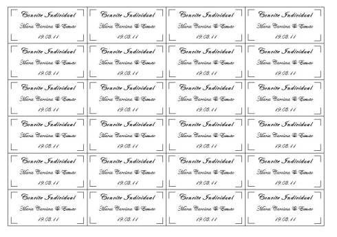 Dica De Convite De Casamento Individual Para Editar E Imprimir Em