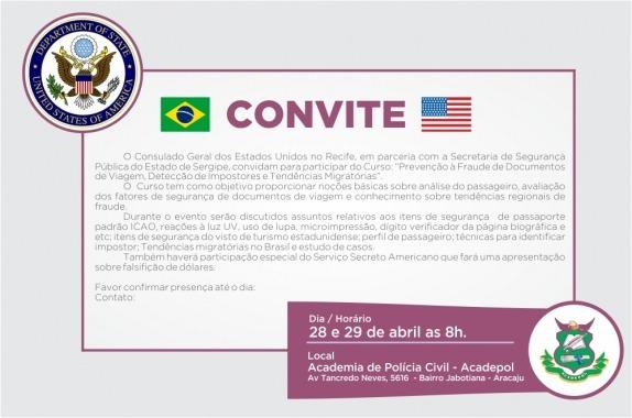 Polícia Sergipana Participa De Curso Promovido Pelo Consulado Dos