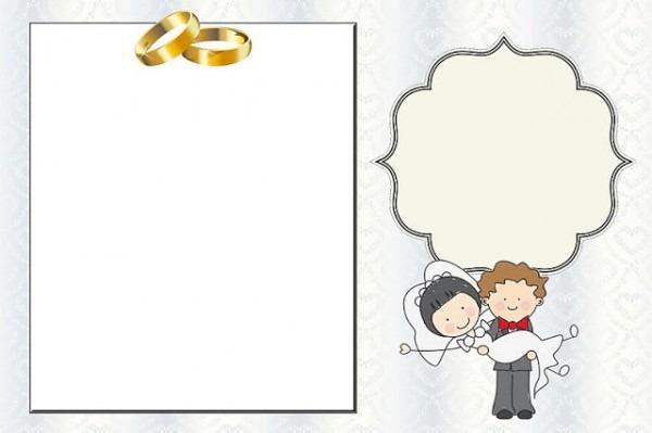 Casamento Noivos Fofinhos – Kit Completo Com Molduras Para
