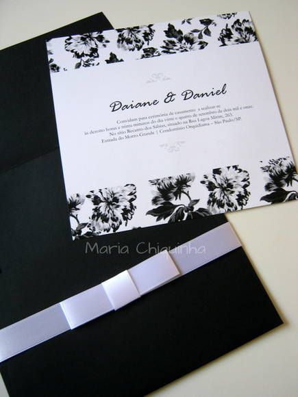 Convites De Casamento Com Verso Estampado  Super Charmoso