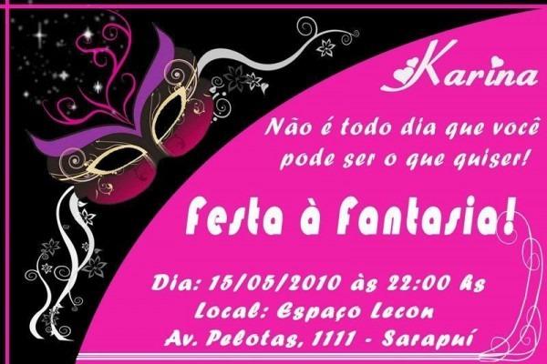 Convite De Baile A Fantasia – Modelos De Convite