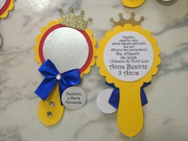 Petit Poá Convites E Decoração  Convite Espelho