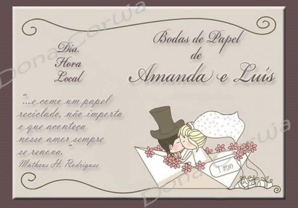 Convite De Bodas De Papel – Modelos De Convite