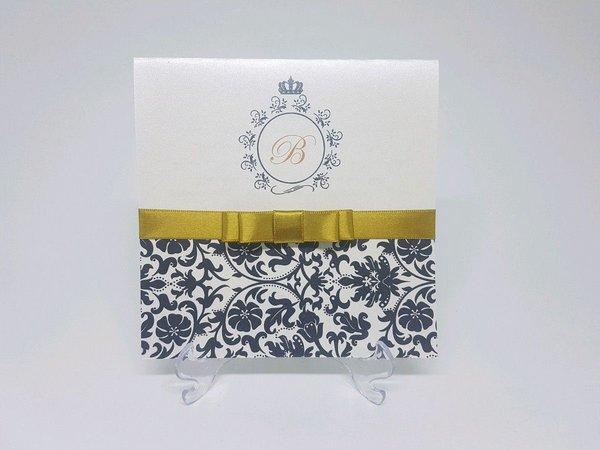 Convite De Aniversario Preto E Dourado