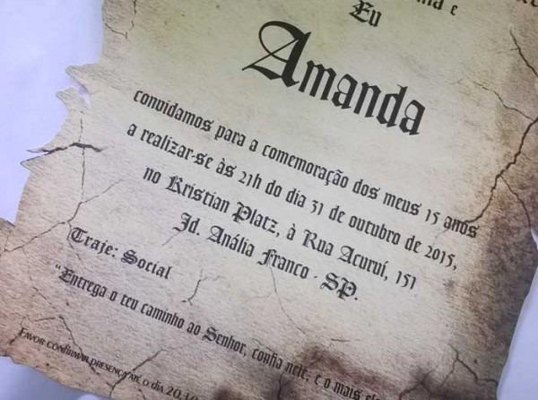Convites De 15 Anos No Tatuapé Com Foto, Pergaminho, Acetato