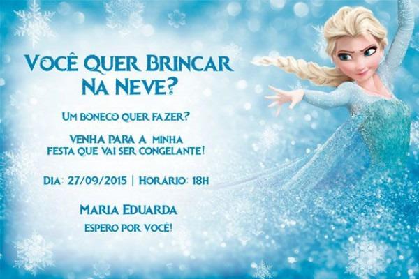 Convite De Aniversário Infantil Frozen Jpeg E Pdf In 2019