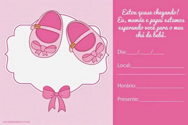 Convites Para Chá De Bebê Editáveis Grátis Para Baixar, Editar E