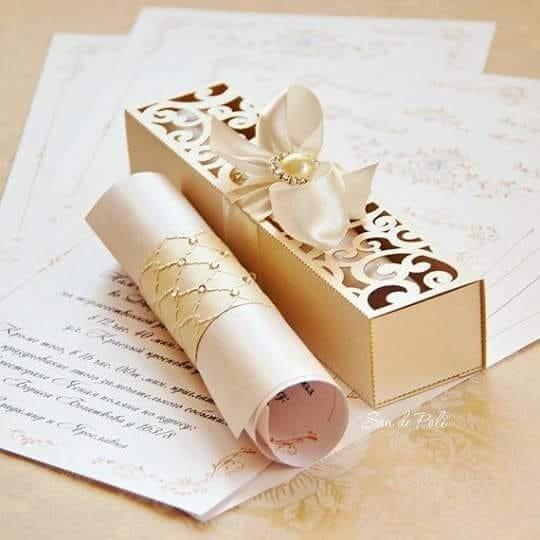 Caixa Convite De Casamento Luxo Arquivo Digital Silhouette