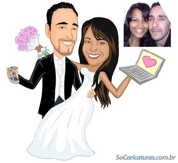 Caricatura De Noivos Para Convites
