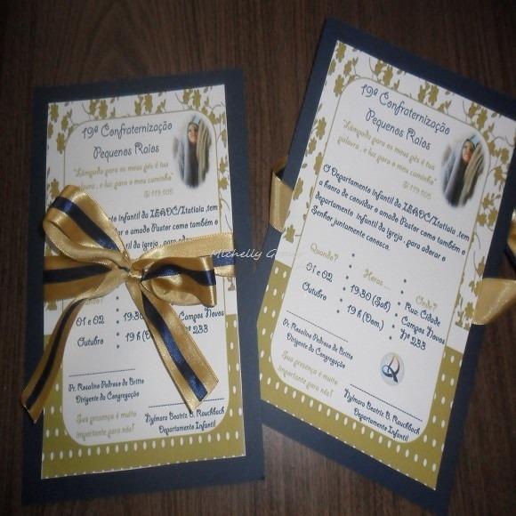 Carta Convite (igrejas) No Elo7