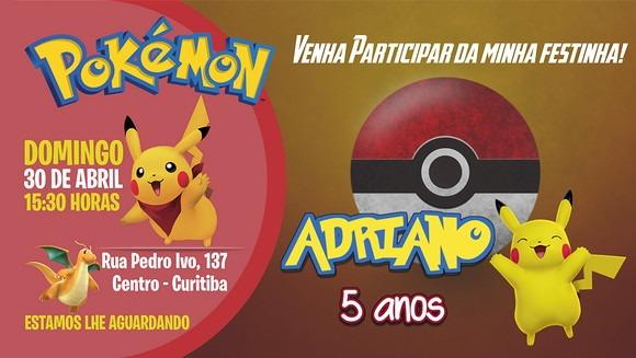 CartÃo De AniversÁrio Pokemon