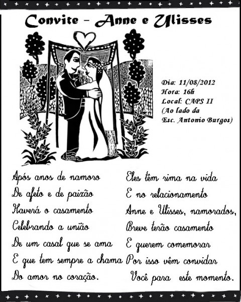 Cordel Personalizado  Convite De Casamento