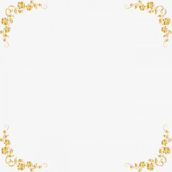 Com Moldura Dourada Golden Timbo Quadro Png Imagem Para Download