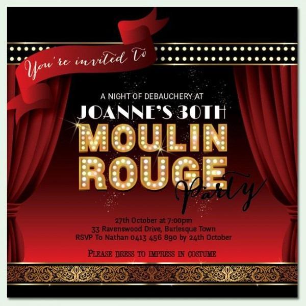 Moulin Rouge Invitation