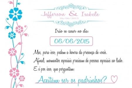 Arte Do Convite + Manual Dos Padrinhos!!