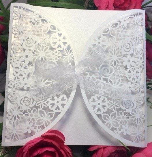 Envelopes Rendados De Convite De Casamento