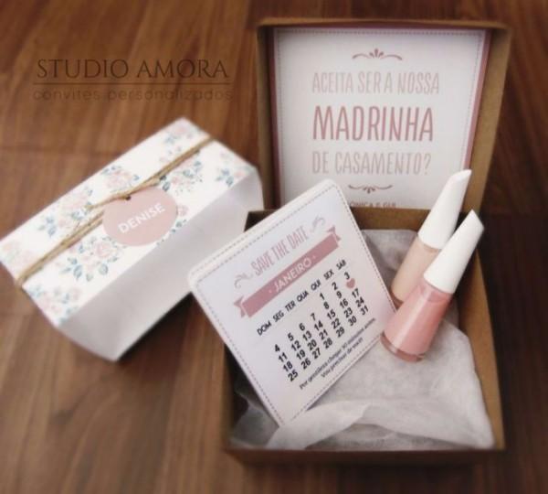 Caixa Convite Das Madrinhas