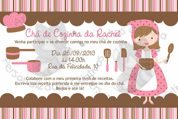 Chá De Cozinha Convite No Elo7