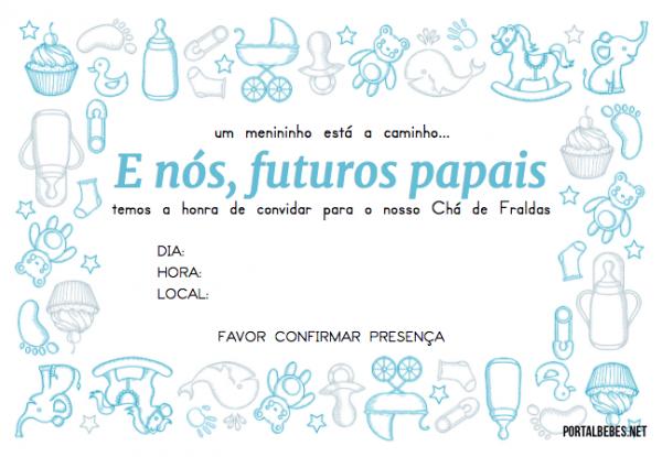 Convites Para Chá De Fraldas  107 Modelos Para Imprimir (baixe