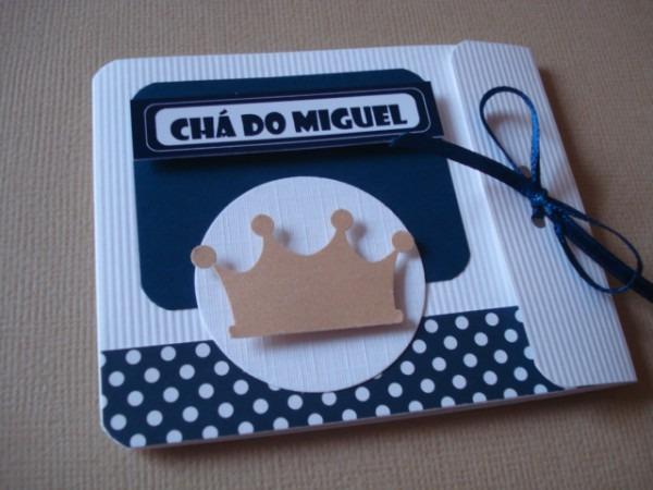 Chá De Fraldas Coroa Azul Marinho7x8,5cm No Elo7