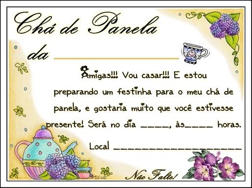 Convite De Chá De Panela Para Baixar ~ Mai Artes
