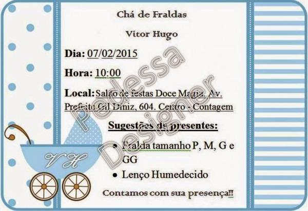 Pedessa Designer  Chá De Fraldas Do Vitor Hugo