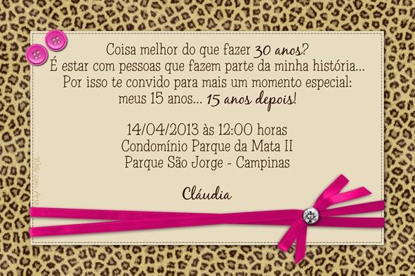 Web Com Arte (webcomarte) No Convite De Festa