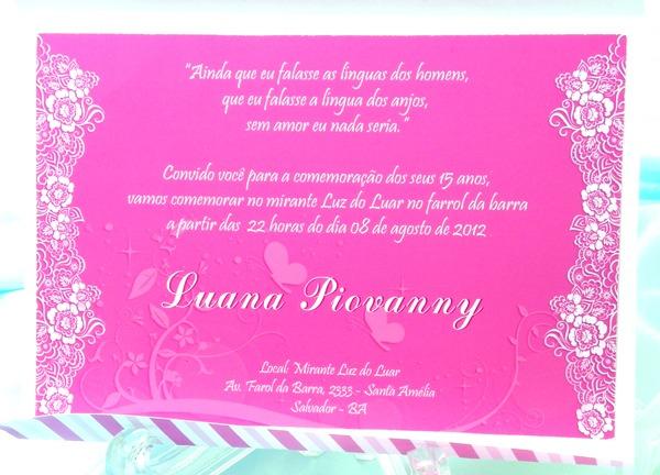 Recorte&arte Scrapbook's  Convite Floral Pink Para Aniversário De