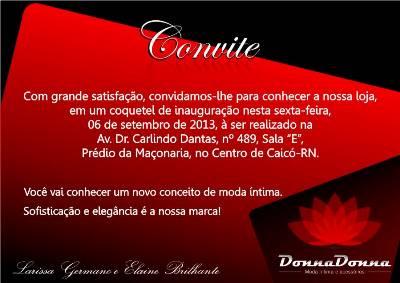 Convite – Coquetel Nesta Sexta