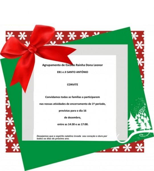 Convite De Natal Eb1 Ji De Santo António