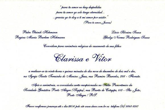 Casamento Clarissa E Vitor