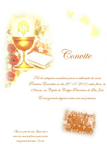 Convite – Sou Catequista