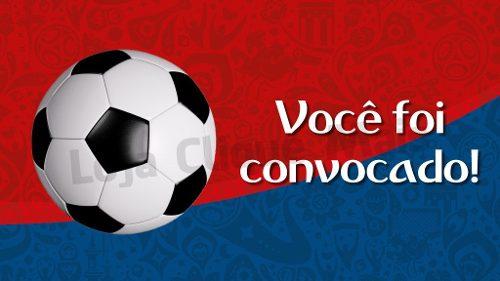 Convite Animado Aniversário Futebol Copa Do Mundo