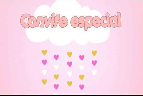 Convite Animado Chuva De Amor No Elo7