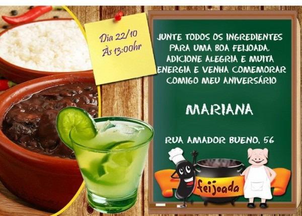 Convite Animado Feijoada, Pagode, Samba