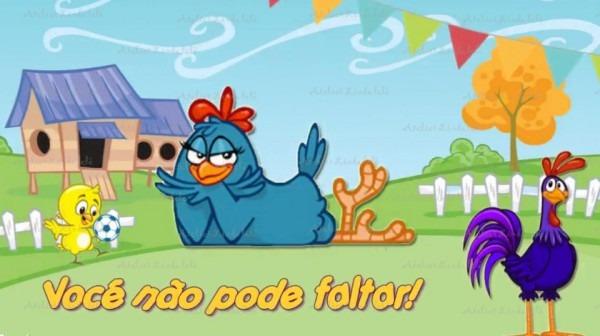 Convite Animado Galinha Pintadinha Com 10 Fotos Da Criança